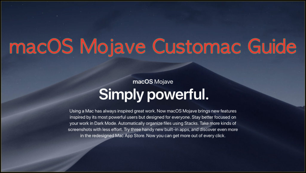 How to build your Customac iMac Pro in Mojave 10 14 with
